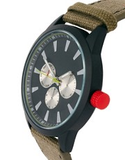 ASOS Colour Detail Canvas Watch