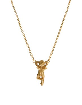 Image 1 ofBill Skinner Laying Cherub Pendant Necklace