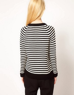 Image 2 ofBoutique by Jaeger Alexa Sweater in Fine Stripe