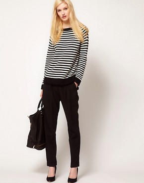 Image 4 ofBoutique by Jaeger Alexa Sweater in Fine Stripe