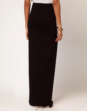 Image 2 ofASOS PETITE Maxi Skirt With Thigh Split