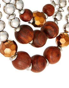 Image 4 ofOasis Wood Bead Necklace