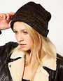 Imagen 1 de Gorro estilo boyfriend metalizado de ASOS