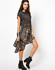 Lucca Couture Asymetric Hem Skirt