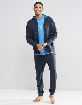 Hugo Boss Cuffed Jogger In Navy Regular Fit