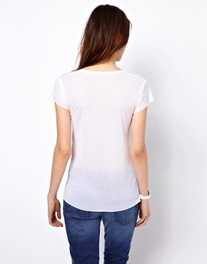 Image 2 ofBZR Tencel Jersey T-Shirt with Pocket