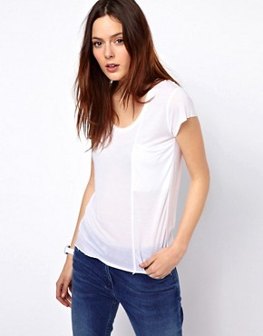 Image 1 ofBZR Tencel Jersey T-Shirt with Pocket