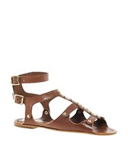 Juicy Couture Zania Leather Flat Sandal