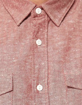 Image 3 ofASOS Shirt In Herringbone