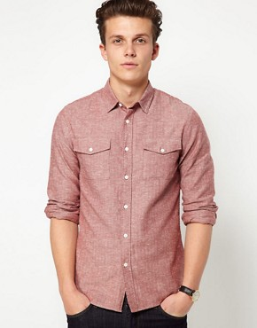 Image 1 ofASOS Shirt In Herringbone