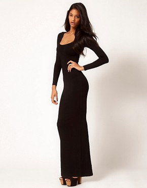 Image 1 ofASOS Maxi Dress with Long Sleeves