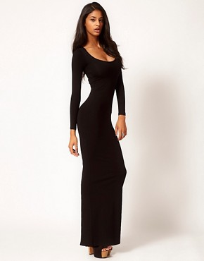 Image 4 ofASOS Maxi Dress with Long Sleeves