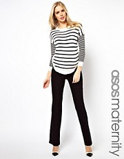 ASOS Maternity Pants With Kick Flare