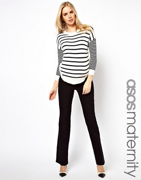 Image 1 ofASOS Maternity Trousers With Kick Flare