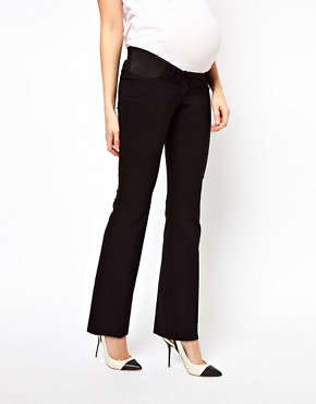 Image 4 ofASOS Maternity Trousers With Kick Flare