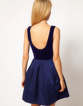 Image 2 ofASOS Prom Dress with Diamante Velvet Top