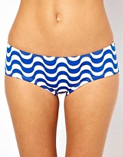 Esprit Wave Print Bikini Short