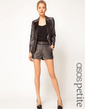 Image 1 ofASOS PETITE Exclusive Shorts With Contrast Detail