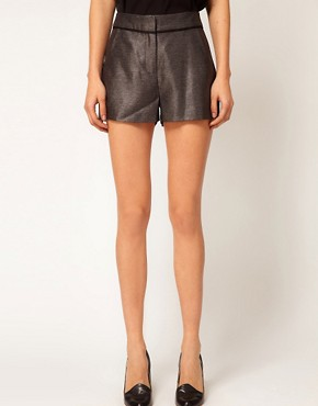 Image 4 of ASOS PETITE Exclusive Shorts With Contrast Detail