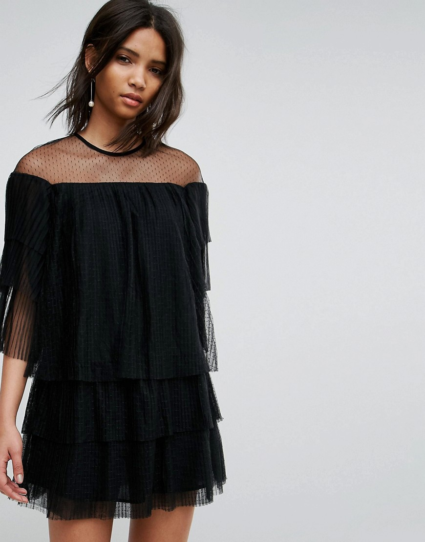E.F.L.A Mesh Dress With Frills