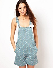 Paul and Joe Sister Floral Dungarees
