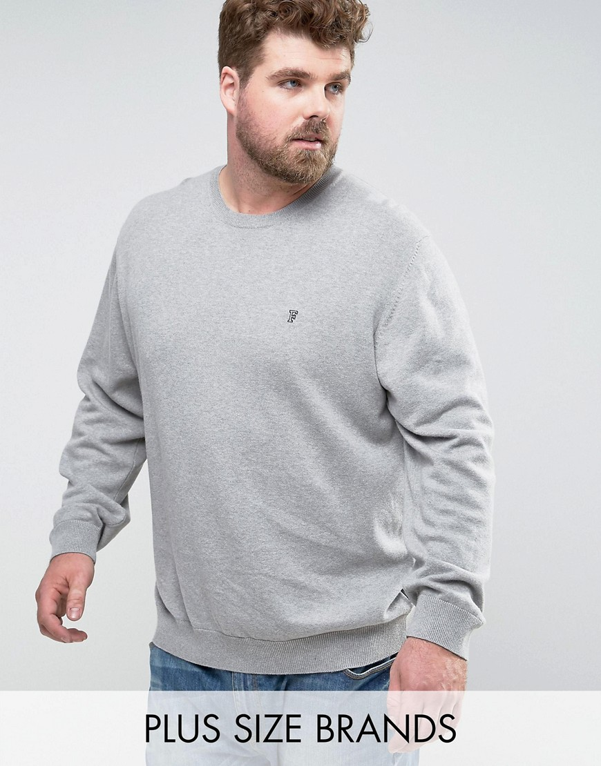 French Connection PLUS Crew Neck Knitted Jumper - Grey