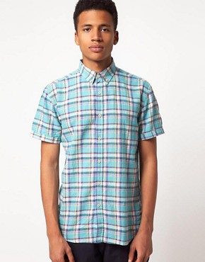 Image 1 ofSelected Clinton Short Sleeve Check Shirt