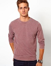 River Island Red Burnout Sweat