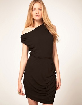 Image 1 ofHalston Heritage Twisted Mini Dress