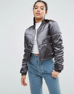 ASOS Satin Padded Bomber Jacket