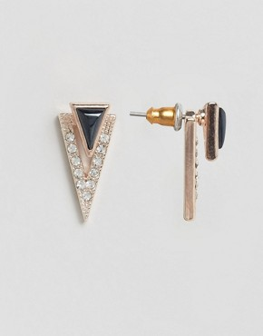 Oasis Spike Pave Through & Through Earrings