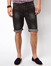 New Look Denim Shorts in Washed Black