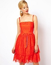 ASOS Premium Prom Dress With Lace Tiers