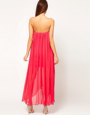 Image 2 ofASOS Strapless Maxi Dress in Mesh