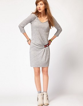 Image 4 ofMaison Scotch Jersey Dress with Beaded Detail