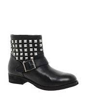 Dune Punkrock Studded Biker Boots