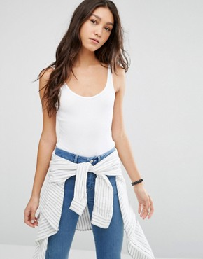 ASOS Vest Body In Rib