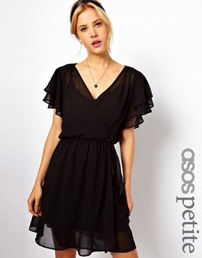 Image 1 ofASOS PETITE 70&#39;s Frill Skater Dress
