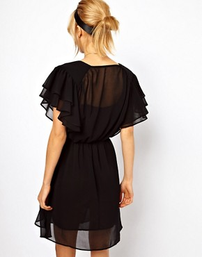 Image 2 ofASOS PETITE 70&#39;s Frill Skater Dress