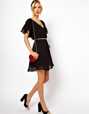 Image 4 ofASOS PETITE 70&#39;s Frill Skater Dress