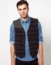 ASOS Stripe Wool Waistcoat