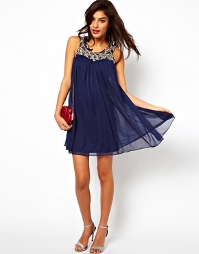 Image 4 ofASOS Swing Dress With Jewelled Neck
