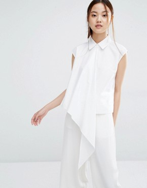 Zacro Sleeveless Shirt With Asymmetric Layer