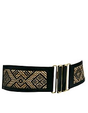 Oasis Straw Weave Waist Belt