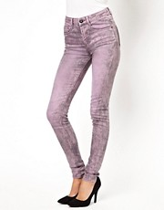 ASOS Ridley Supersoft High Waisted  Ultra Skinny Jeans in Greyed Lavender
