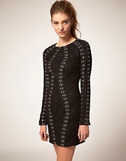 ASOS Lace Dress with Hook &amp; Eye Detail