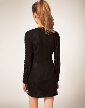 Image 2 ofASOS Lace Dress with Hook &amp; Eye Detail