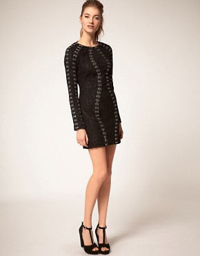 Image 4 ofASOS Lace Dress with Hook &amp; Eye Detail