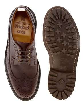 Image 3 ofTrickers Exclusive to ASOS Longwing Brogues