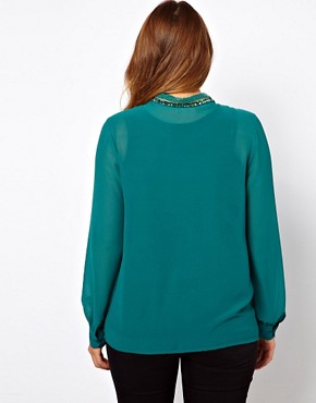 Image 2 of ASOS CURVE Blouse With Embellished Collar